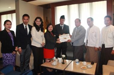 Chatrium-Hotel-Royal-Lake-Yangon-Donated-Cash-for-Nepal