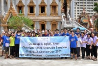 Clean Up Wat Sutthi Wararam by Chatrium Riverside