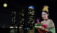 Authentic Thai Traditional Loy Krathong Festival