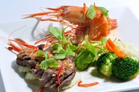 Surf & Turf at River Barge Restaurant