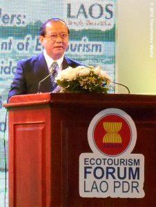 Laos-Asean-Ecotourism-Forum-Bosengkham-Vongdara-Miinister-Tourism