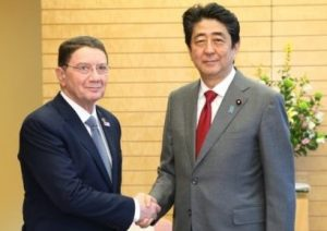 Japan's Prime Minister Abe Meets UNWTO Secretary-General