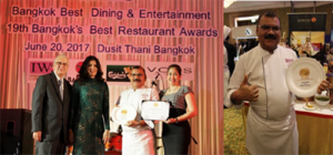 Rang Mahal Wins Bangkok's Best Restaurant Award