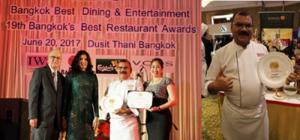 Rang Mahal Wins Bangkok's Best Restaurant Award