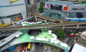 Public Art Space Now Open at Pathumwan Intersection Skywalk