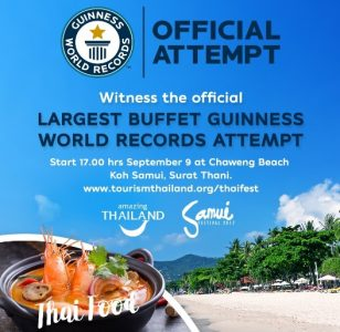 World Record Attempt for the Largest Buffet at Samui Festival with Guinness World Records