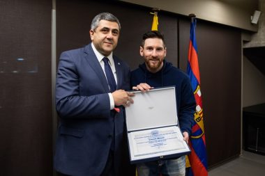Lionel Messi Footballer at UNWTO