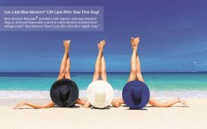 Receive a $20 Best Western Travel Card with Best Western's Summer Promotion in Asia