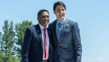 President Danny Faure of Seychelles at G7 in Charlevoix in Canada