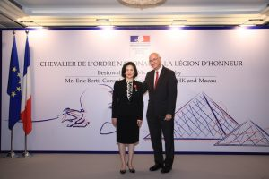 French President Macron Bestows Légion d'Honneur on Ms. Pansy Ho