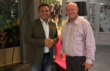 Alain Saint Ange with President of La Reunion