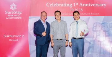 SureStay Plus Hotel Bangkok Celebrates First Anniversary with Glittering Rooftop Party