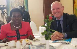 Alain St.Ange Captures All Attention at Uganda Civil Aviation Conference