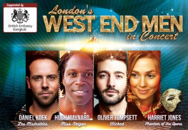 Four West End Superstars from London to Perform in Bangkok