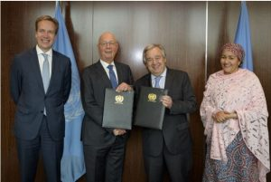 World Economic Forum and UN Sign Strategic Partnership Framework
