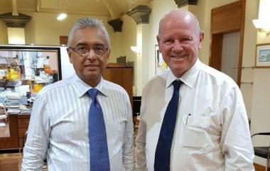 Alaion Saint Ange with Pravind Jugnauth wins Mauritius November elections TRAVELINDEX