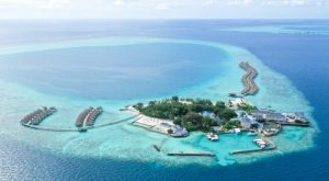 Centara Maldives Resort with Sustainable Solar Power Source on Rooftops