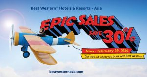 Enjoy an EPIC 2020 with 30% off at Best Western Hotels and Resorts in Asia
