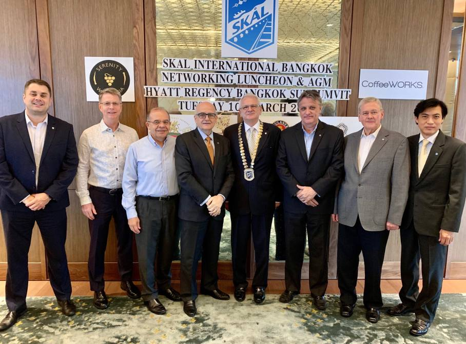 Andrew Wood Elected President Of Skal Bangkok For Second Consecutive Term Travelcommunication Net Global Travel News And Updates